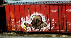 soak (timetomakethepasta) Tags: soak freight train graffiti art wc wisconsin central boxcar moniker relic rfm benching selkirk new york
