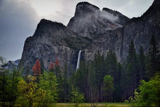 Low Clouds on the Peaks of Cathedral Rocks (Yosemite National Park)