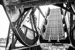Abandoned Train Bridge (Roger Daigle) Tags: bw train bridge abndoned rust nikon ontario canada