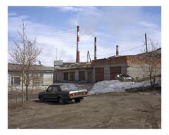 may, 2017 (urban.photo.lv) Tags: nikel russia industrial volga car russian postsoviet border pollution factory area smoke stacks steel steelworks garage buildings dirt snow road winter
