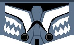 Lego Commander Wolffe Helmet Decals (Gabriel Fett) Tags: lego star wars clone commander wolffe dave filoni canon turbo tank plo koon jedi