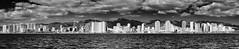 Waikikii pano view, (MiguelVP) Tags: skyline oceanfront buildings waikikii hawaii balckandwhite bw ocean clouds hotels beachs