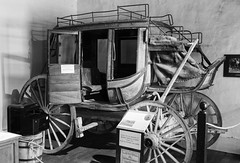Stage Coach (rschnaible) Tags: lincoln new mexico old history historic us usa west western southwest courthouse museum county wars stage coach bw photography monotone black white