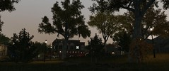 Park at evening :) (Brandon ProjectZ) Tags: watchdogs chicago city windy overcast rain trees lighting natural 4k uhd