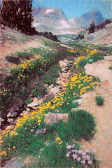 Digital Color Pencil Drawing of Paintbrush Canyon (Charles W. Bailey, Jr., Digital Artist) Tags: canyon flowers paintbrushcanyon grandtetonnationalpark wyoming usa northamerica photoshop photomanipulation topaz topazlabs topazclarity topazrestyle on1photo topazimpression topazremask drawing colorpencil colorpencildrawing art fineart visualarts digitalart artist digitalartist charleswbaileyjr