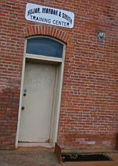 Hujar, Mondak, and Smith Training Center, Binghamton, NY (Robby Virus) Tags: binghamton newyork ny upstate hujak mondak smith training center sign signage door entrance