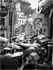 Takeshita Dori im Regen (nori pi) Tags: schwarzweis japan harajuku takeshitadori strase regen schirme tokio