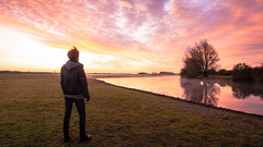 Me. (davecurtis_01) Tags: sunrise sunset goldenhour sky dramatic atmospheric fog river water oxford oxfordshire selfportrait
