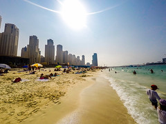 Jumeirah Beach, Dubai (h9rv_d) Tags: dubai uae unitedarabemirates jumeirahbeach jumeirah beach sea sand gulf travel traveling sights sightseeing architecture buildings goprohero4 goprophotography travelphotography