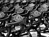 Chairs (markb120) Tags: church chapel kirk cathedral minster bw chair stool pew