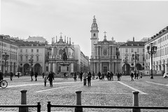 Piazza San Carlo (carlo baldino) Tags: italy piedmont piemonte torino turin piazza square san carlo chiesa church monumento equestre caval d brons sundaylights
