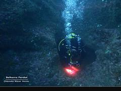 Belharra Marine Cave (YellowSingle 单黄) Tags: belharra perdun marine cave cavern exploration scuba diving blue odyssey socoa olympus tg4