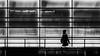 Lady in Black (laga2001) Tags: berlin street streetphoto streetphotography silhouette black white bnw monochrome lines geometry people human light shadow reflection underground