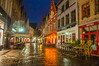 Night Drinks (Tony Shertila) Tags: bruges brugge dijver bluehour bridge brussels canal cityscape water 20170830212222 europe outdoor people building architecture clock tower arch night reflections city cafe street road cobbles colours skyblue vlaanderen belgium bel