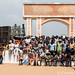 Ouidah festivalgoers at the Gate of No Return