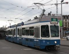 20171104 - 6023 - Verkehrsbetriebe Zürich - Be 4-6 SWS BBC - No 2006 - Route 11 - Bahnhofquai - Zurich (Paul A Weston) Tags: switzerland tram zurich bahnhofquai verkehrsbetriebezürich be46swsbbc 2006 route11 vbz