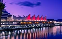 Canada Place Reflections. Vancouver, Canada (mtm2935) Tags: nightscene nightshot nightphoto longexposure canadaplace canada vancouver