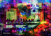 Philly Vibes (brillianthues) Tags: philadelphia urban city skyline colorful collage photography photmanuplation photoshop