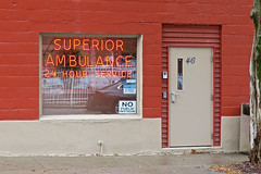 Superior Ambulance, Binghamton, NY (Robby Virus) Tags: binghamton newyork ny upstate superior ambulance service neon sign signage window front door entrance emt emergency medical medicine