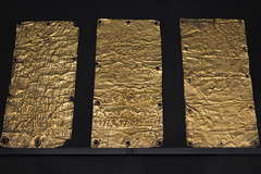 Rome, Italy - Villa Giulia (Etruscan Museum) - Gold Sheets with Dedication to Astarte (jrozwado) Tags: europe italy italia rome roma villagiulia museum archaeology etruscan gold sheet astarte phoenician