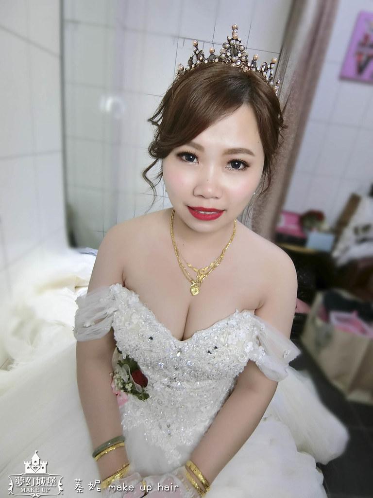 【新秘蓁妮】bride若伶 結婚造型 / 高雄鼎富宴席
