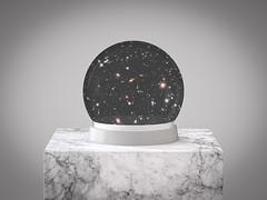 Snow Globe Universe (Lightcrafter Artistry) Tags: art photoshop universe galaxies stars snowglobe