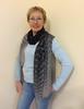 Huge shibori scarf (arireven) Tags: cotton scarf shawl shibori handdyed unique buy black gray