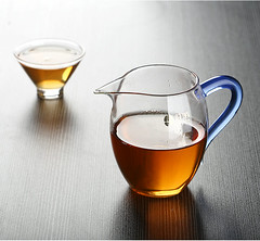 Free Shipping Cylindrical glass tea cup with filter tea pot  for GongFu Cha Puerh Tea Tieguanyin Oolong Cha Tea Set GongDaoBei ChaHai Cup 360ml Premium (John@Kingtea) Tags: free shipping cylindrical glass tea cup with filter pot for gongfu cha puerh tieguanyin oolong set gongdaobei chahai 360ml premium