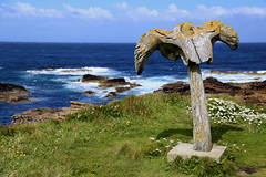 The Birsay Whalebone, Orkney (janroles) Tags: canoneos6d scenic landscape whalebone flickr outdoor flowers orkney coast cliffs clouds waves england coastline summer july