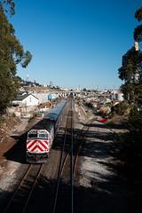 Let's Go To The City (Defect Detector) Tags: california caltrain sf bayarea menlo park railroad train passenger menlopark