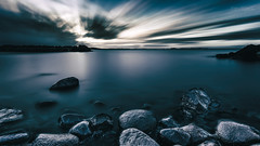 The Future's So Bright... (Normann Photography) Tags: 300sec 5minutes igottawearshades karlsvika leefilters ndfilter thefuturessobright thefuturessobrightigottawearshades thesuperstopper tønsberg vestfold almostmonochrome blue longexposure seascape shore superstopper norway no