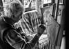 """ The early bird catches the worm "" (pigianca) Tags: italy rosalbaparrini painter monochrome bw biancoenero streetphoto portrait leicam82 summicronc40mmf2"