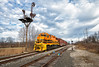 I&O 5011, CP Glen Echo (Wheelnrail) Tags: io iory signals gw genesee wyoming gp50 emd locomotive springfield a job local railroad rail road rails sky saturday morning semaphore nyc urbana branch