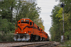 CSS 2005 @ La Porte, IN (Michael Polk) Tags: chicago south shore bend railroad emd gp382 2005 af2 nickel plate indianapolis michigan city la porte stilwell salem heights nkp kil freight train signals