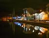 Newry, Albert Basin (Sean O'Hare) Tags: elements newry albert basin canal lights reflections christmas boats