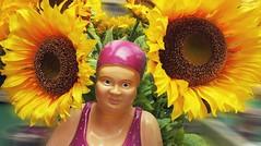 Lady Sunshine (G_E_R_D) Tags: ladysunshine sunflower sonnenblumen badehaube badeanzug bikini bathingcap swimsuit
