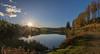 Autumn Sun (Mac ind Óg) Tags: loch sun landscape sunset reflection walking lochlomondandthetrossachsnationalpark panorama lochanreoidhte autumn scotland aberfoyle queenelizabethforestpark achrayforest waterscape forest
