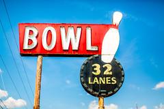Bowling for Shreveport (Thomas Hawk) Tags: 32lanes america caddo caddoparish louisiana shreveport southgatebowlinglanes usa unitedstates unitedstatesofamerica bowling bowlingalley neon fav10 fav25 fav50
