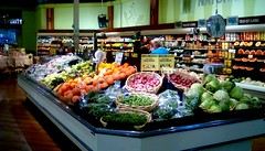 Produce department at Jack's Fresh Market! (Maenette1) Tags: jacksfreshmarket produce fruit vegetables counter shelves scale menominee uppermichigan flicker365 michiganfavorites