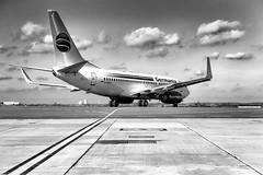 roll to the runway (MAICN) Tags: aircraft airplane bw airport flughafen monochrome plane flugzeug schwarzweis blackwhite mono vhs einfarbig sw 2017 dortmund