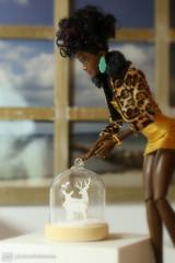 first x-mas decoration (photos4dreams) Tags: dolls211112017p4d toy plastic spielzeug plastik photos4dreams p4d photos4dreamz photo omg © dress barbie mattel doll barbies girl play fashion fashionistas outfit kleider mode puppenstube tabletopphotography aa regularlifeinthedollhouse puppe afroamerican darkskin beautiful africanamerican billyjean diorama beauties girls women ladies damen weiblich female funky afro schnitt hair haare afrolook