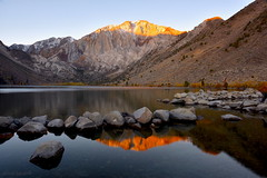 Light up the Head of Mountain (milton sun) Tags: convictlake easternsierra california highway395 landscape mountains clouds sky meadows autumn rocks lake reflection outdoor natural water sunlight