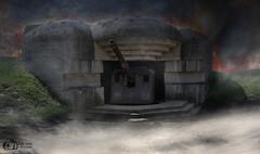 Atlantic Wall - Longues-Sur-Mer - Normandy - France (D. Pacheu) Tags: bunker blockaus casemate world war ii pacheu fire smoke normandy longues