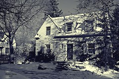 Winter Wonderful (rcss2800) Tags: snow white black winter landscape house home tree monochrome blackandwhite