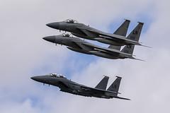 McDonnell Douglas F-15 Eagles - 3 (NickJ 1972) Tags: raf fairford royalinternationalairtattoo riat airshow 2017 aviation mcdonnelldouglas f15 eagle strike 910313 ln 860174 860176