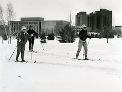 Cross country skiing at UW-Green Bay