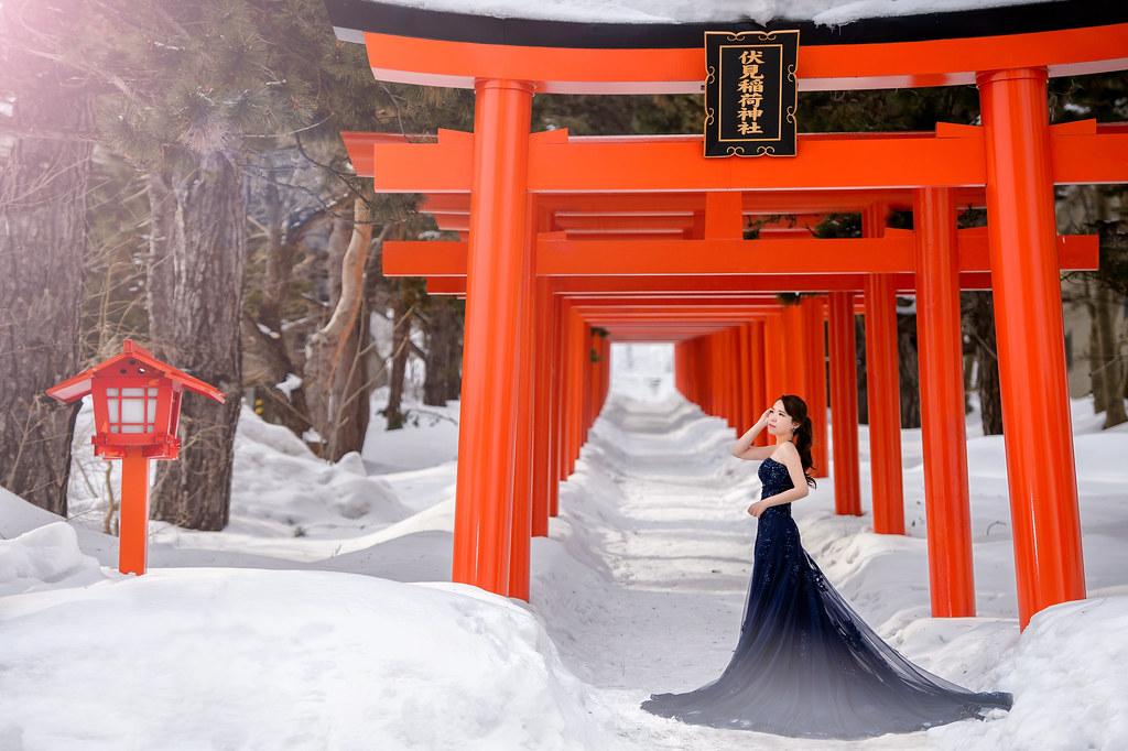 北海道婚紗 伏見稻荷神社婚紗拍攝禮服 : Toris Wedding