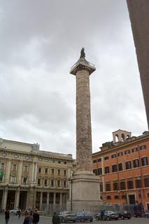 Rome, Italy - Piazza Colonna - Column of Marcus Aurelius