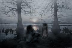 PENSARES (ojoartificial) Tags: hdr 18mm d3200 uruguay canelones surrealismo montaje fog niebla ancestro tumba halo soul alma fantasma fantasy espectro dead muerte cementerio lápida photo photography