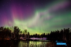 Northern Lights at home 2 (Warren Qc) Tags: northen light aurore boreale aurora borealis lac lake joly saint honore aeroport nuit ciel night sky etoile star saguenay quebec canada winter north true